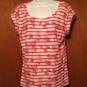 Liz Claiborne top blouse tee-short sleeve size L
